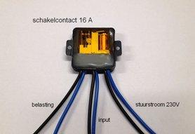 Schakelcontact 16A
