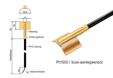 Pt1000 buis-sensor 105C