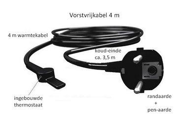 Vorstvrij-kabel 4 m