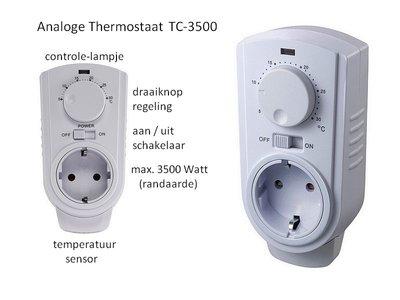 Thermostaat analoog voor koelen en verwarmen